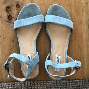 Steve Madden light blue suede sandals